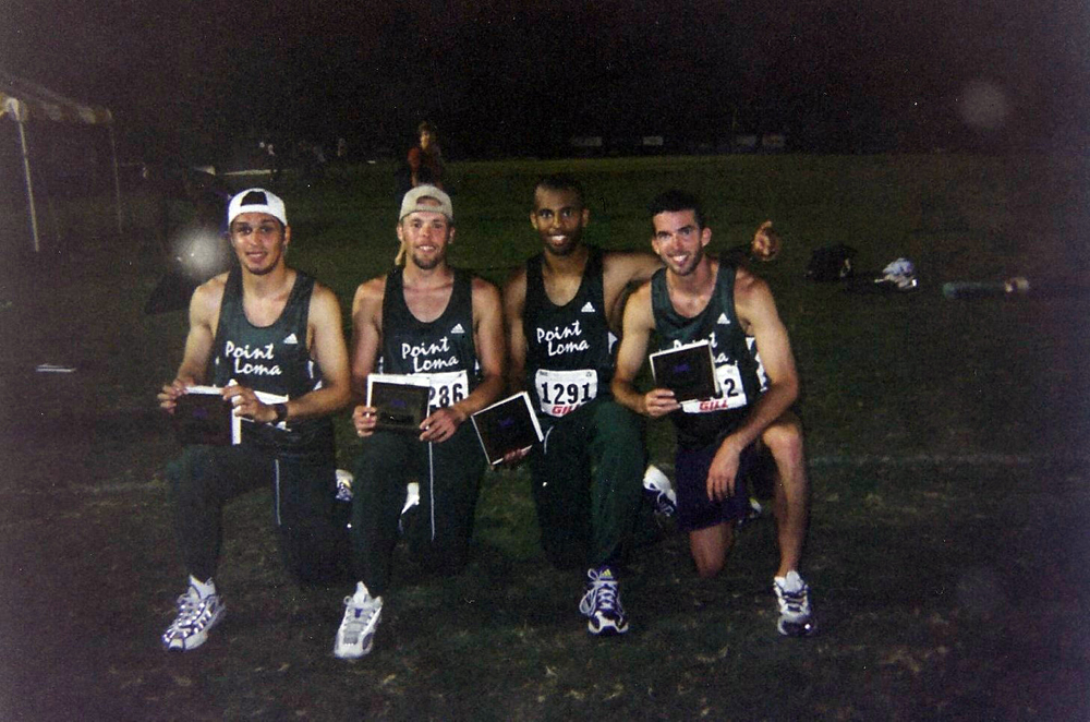 Ivan Djurdjevic, Jimmy Martin, Julian Springer, Kevin Wakley. Point Loma 1999 National All American 4x400m team